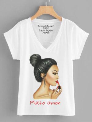 Camiseta mucho amor