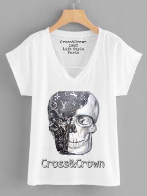 Camiseta calavera Louis Vuitton