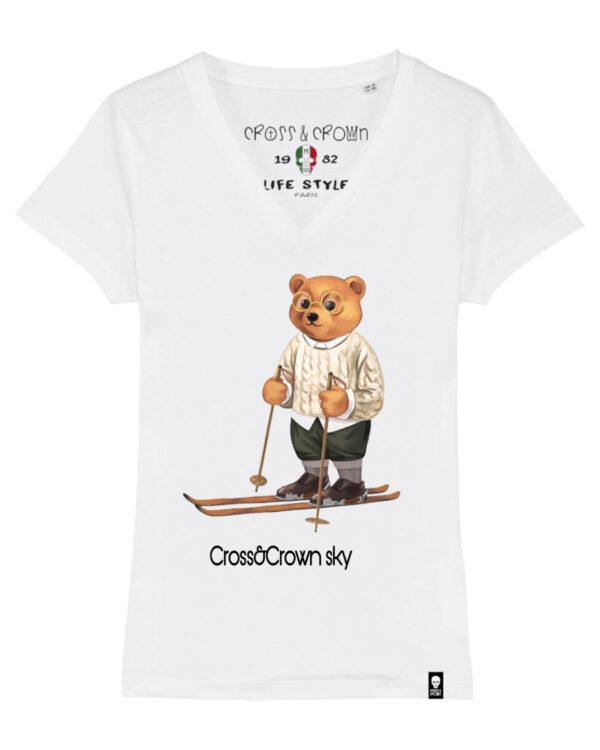 camiseta Bear Sky cuello pico
