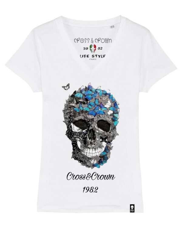 Camiseta calavera butterfly