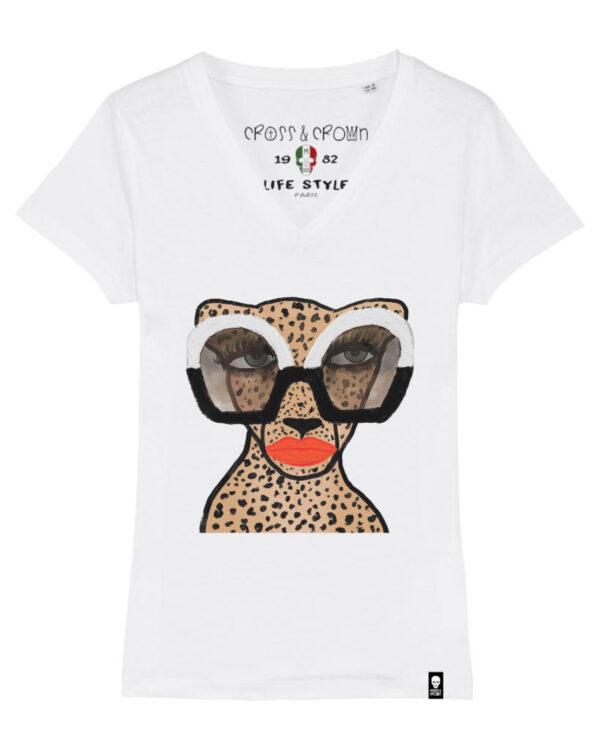 Camiseta Leopard glasses